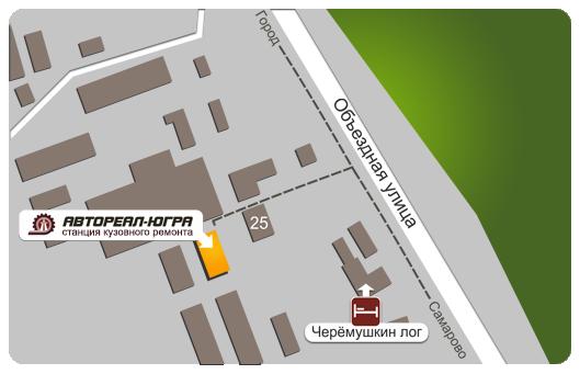 Схема проезда ск станции